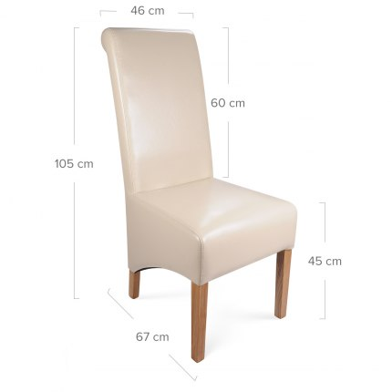 Krista Dining Chair Cream Leather