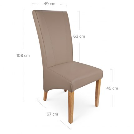 Marseille Madras Leather Dining Chair Taupe