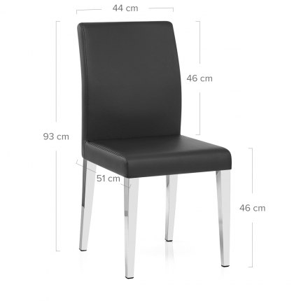 Dash Dining Chair Black Dimensions