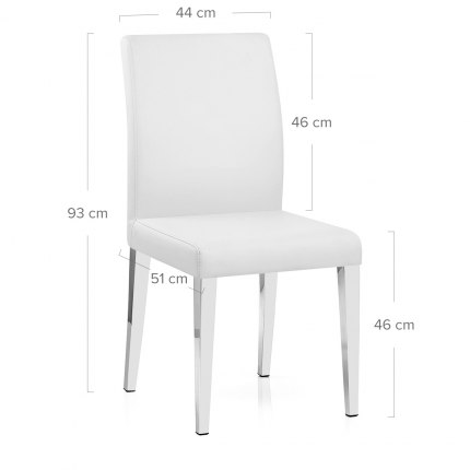 Dash Dining Chair White