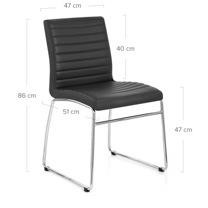 Panache Dining Chair Black Dimensions