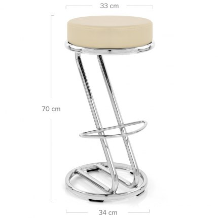 Zizi Kitchen Stool Cream