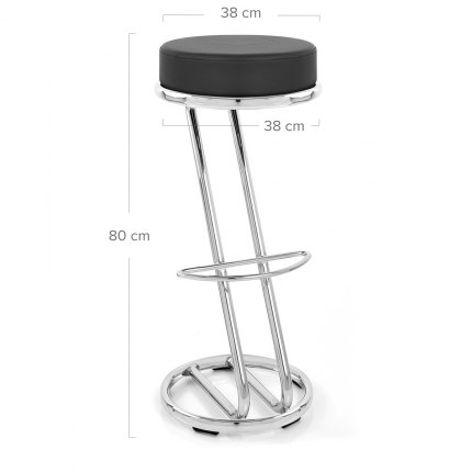High Zed Bar Stool Black Dimensions