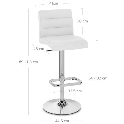 Lush Chrome Stool White