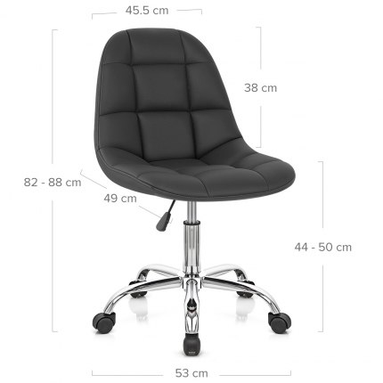 Rochelle Office Chair Black Dimensions