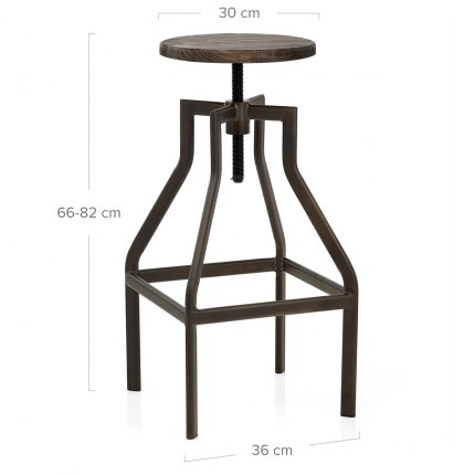 Vintage Revolution Stool Dark Wood Dimensions