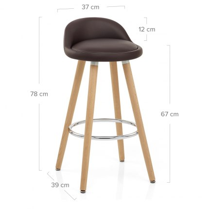 Jive Wooden Stool Brown