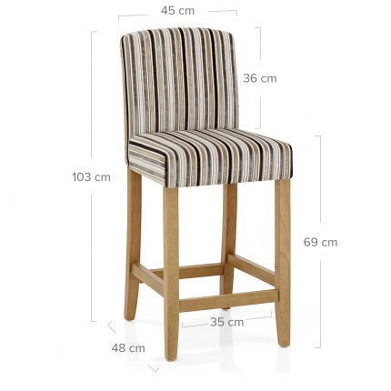Carter Oak Bar Stool Stripe Fabric