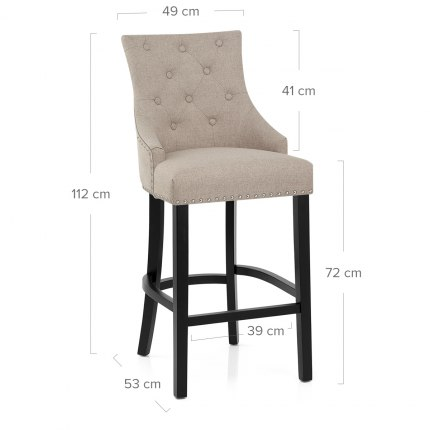 Ascot Bar Stool Tweed Fabric