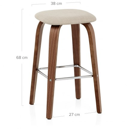 Stockholm Bar Stool Beige Dimensions