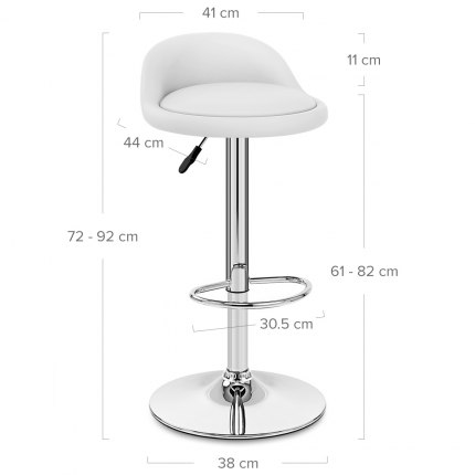 Lulu Bar Stool White