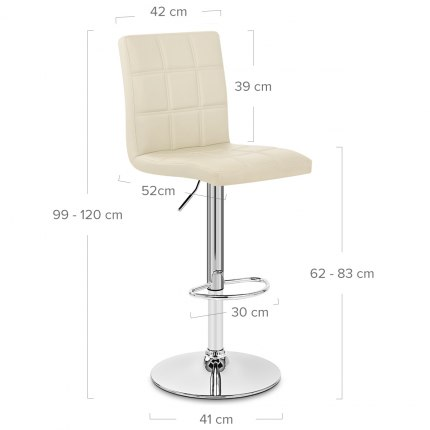 Criss Cross Bar Stool Cream