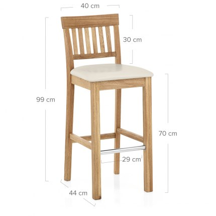 Grasmere Oak Bar Stool Cream