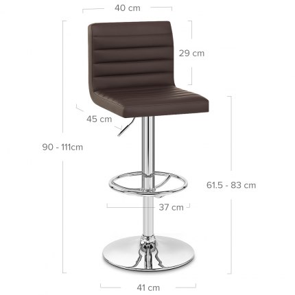 Mint Bar Stool Brown Dimensions