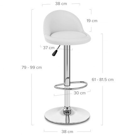 Glee Bar Stool White