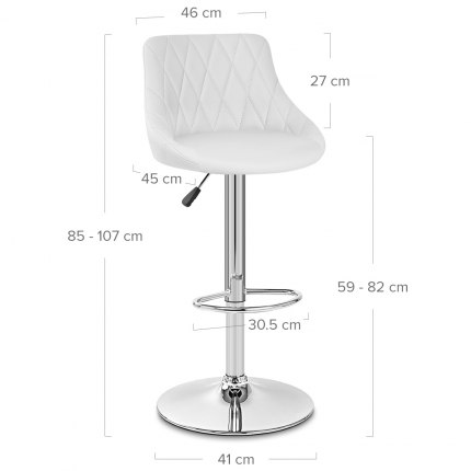 Stitch Bar Stool White