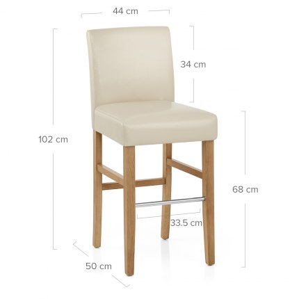 Purnell Oak Stool Cream