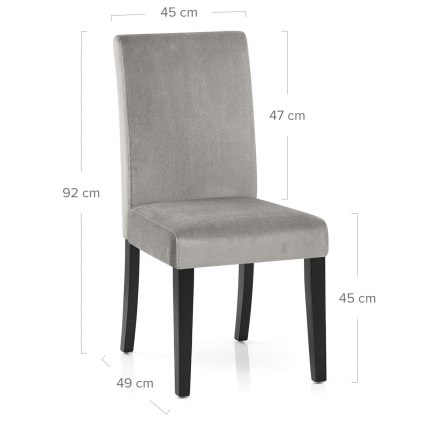 Boston Dining Chair Grey Velvet