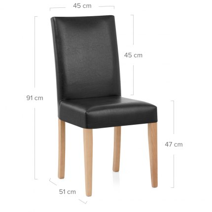 Chicago Oak Dining Chair in Black