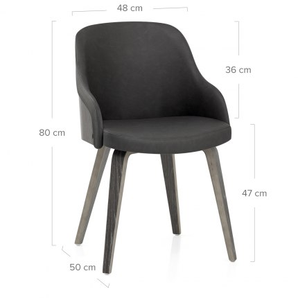 Fusion Wooden Chair Charcoal Dimensions