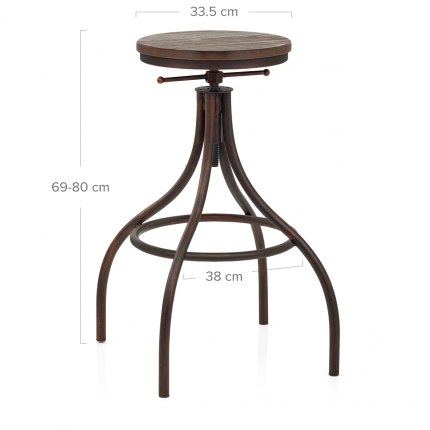 Arc Stool Antique Copper