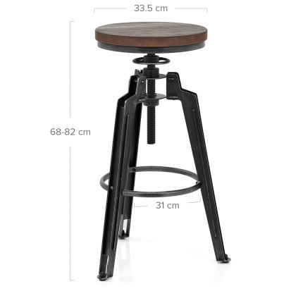 Trio Stool Gunmetal Dimensions
