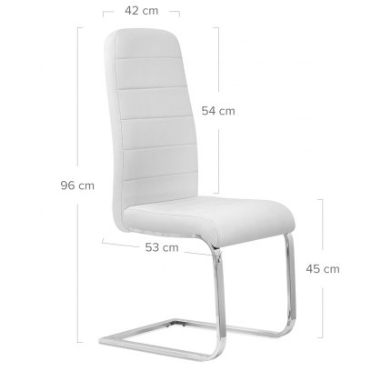 Monet Dining Chair White Dimensions
