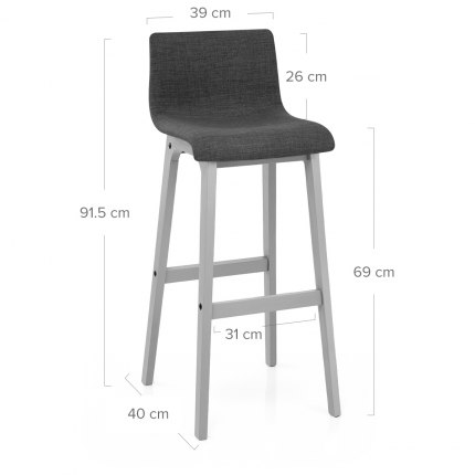Coast Bar Stool Charcoal Fabric