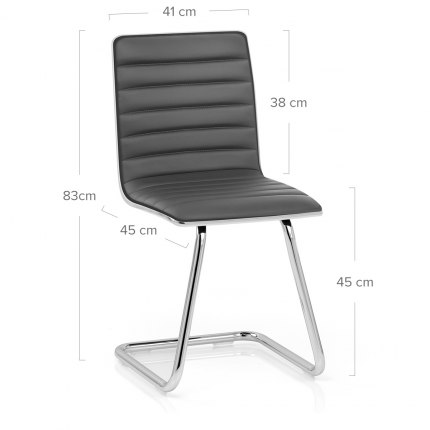 Vesta Dining Chair Grey Dimensions