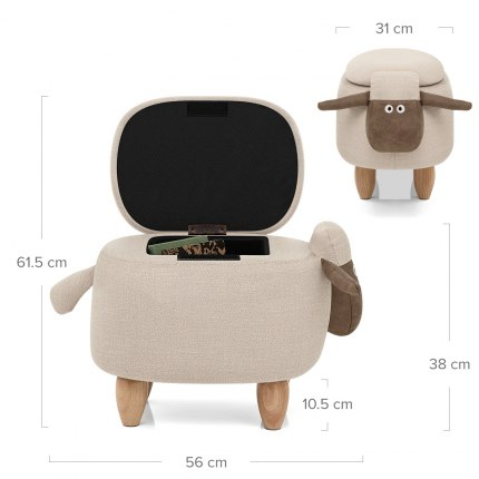 Sheep Children's Storage Stool