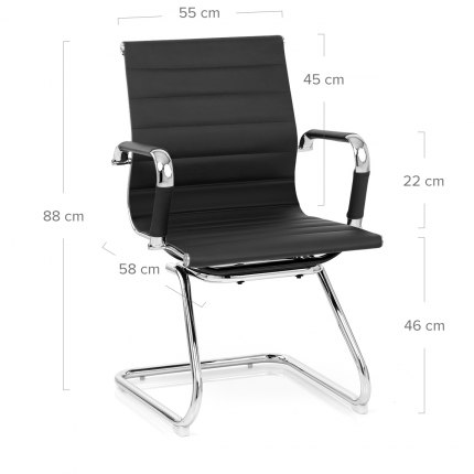 Task Office Chair Black Dimensions