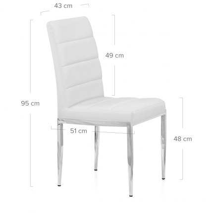 Taurus Dining Chair White Dimensions