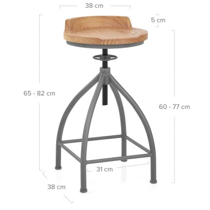 Axle Industrial Bar Stool Dimensions