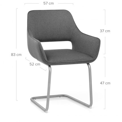 Remix Dining Chair Grey Fabric