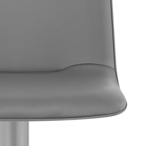 Cape Brushed Steel Stool Grey