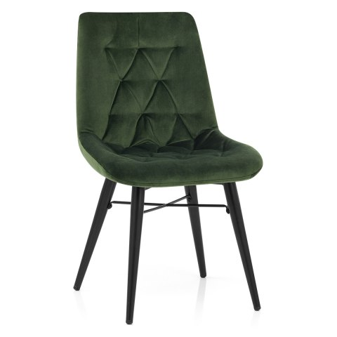 Roxy Dining Chair Green Velvet