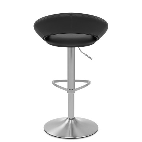 Brushed Crescent Stool Black