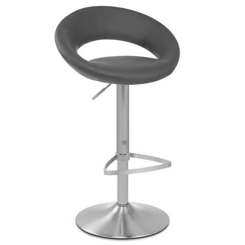Brushed Crescent Stool Grey