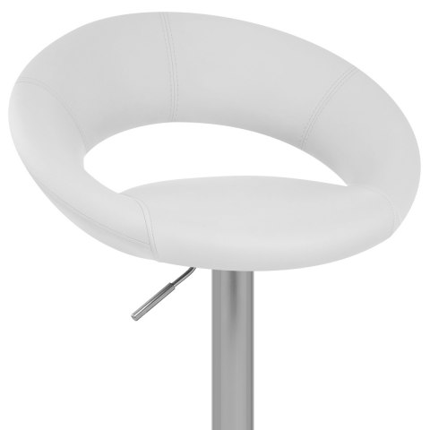 Brushed Crescent Stool White