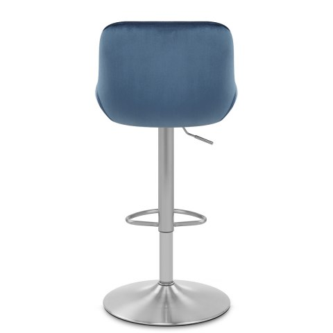 Florida Brushed Stool Blue Velvet