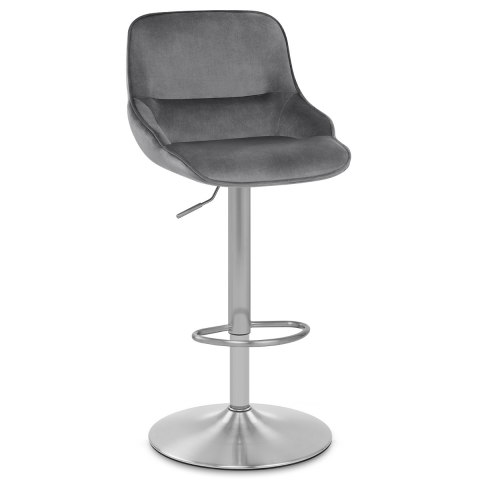 Florida Brushed Stool Grey Velvet