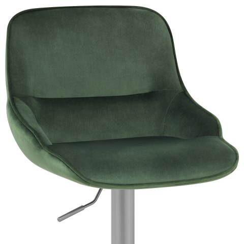 Florida Brushed Stool Green Velvet