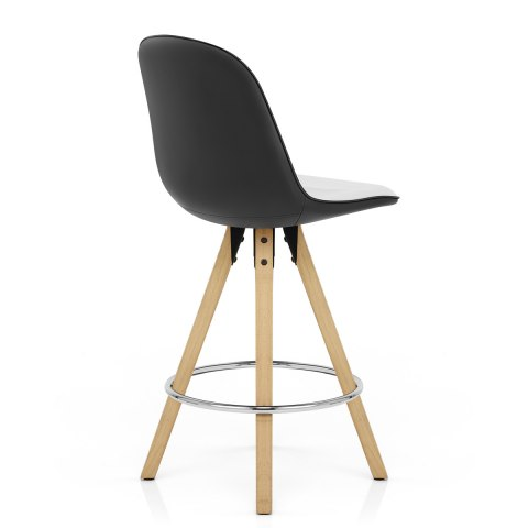 Ski Bar Stool White & Black