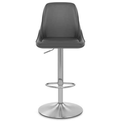 Venice Brushed Steel Stool Grey