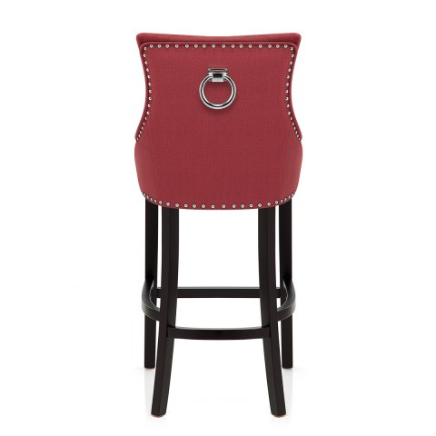Ascot Bar Stool Red Fabric