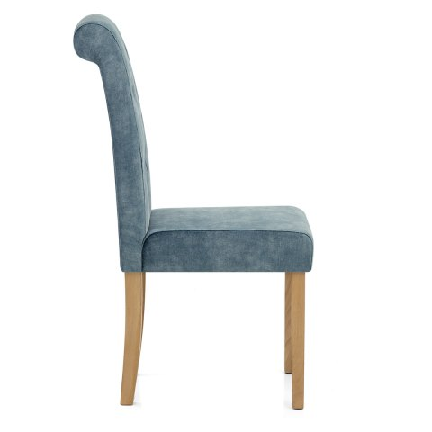Portland Dining Chair Blue Velvet