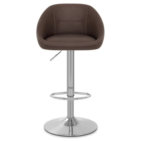 Decco Brushed Bar Stool Brown