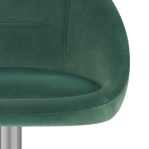 Decco Brushed Stool Green Velvet