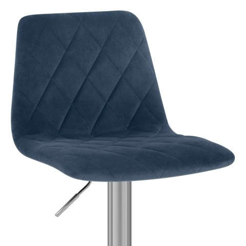 Melody Brushed Stool Blue Velvet