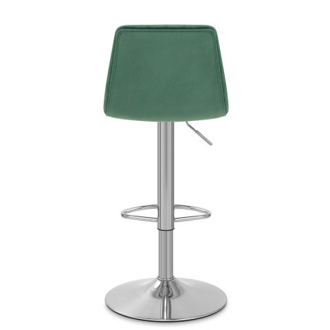 Melody Brushed Stool Green Velvet